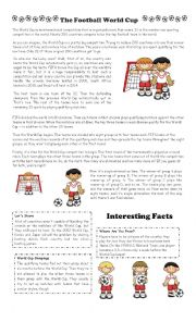 english worksheets the football world cup. Black Bedroom Furniture Sets. Home Design Ideas