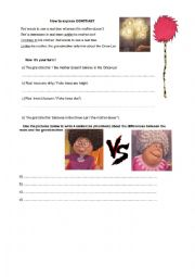 English Worksheet: Expressing Contrast with The Lorax