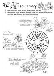 English Worksheet: summer holiday - at the seaside