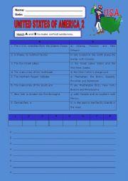 English Worksheet: United States of America:2