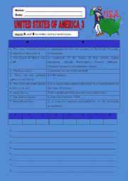 English Worksheet: United States of America:3