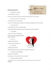 English Worksheet: Marriage expressions