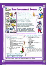 English Worksheet: Reading Comprehension: A Poem
