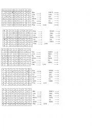 English Worksheet: 3rd person singular