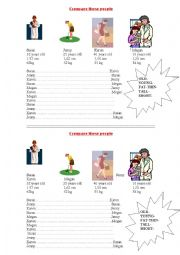 English Worksheet: compare these people