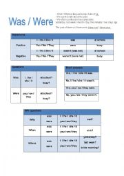 English worksheets: was were worksheets, page 22