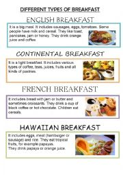 English Worksheet: DIFFERENT TYPES OF BREAKFASTS AROUND THE WORLD