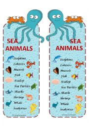 English Worksheet: sea animals