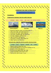 English Worksheet: Geographical Features: Worksheet