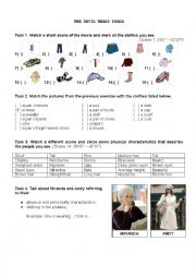 English Worksheet: The Devil Wears Prada