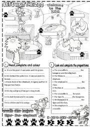 English Worksheet: zoo