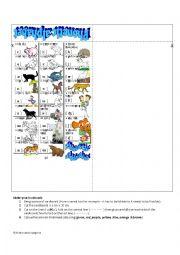 Bookmark - phonetic animals