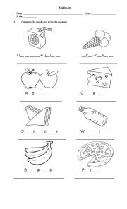 English worksheets: the Food worksheets, page 217