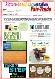 Picture based conversation.  Fair-Trade. (Debating) 22/…