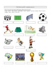 English Worksheet: Soccer vocabulary World cup 2014