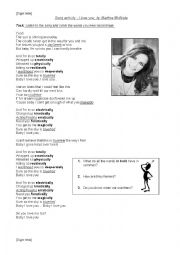 English Worksheet: Adverbs of Manner song