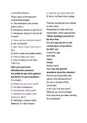 English Worksheet: Introducing yourself conversation practice