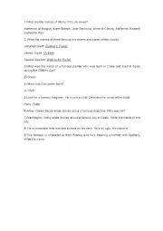 English Worksheet: BOOK DAY GYMKHANA