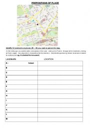 Prepositions of Place Walk