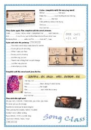 English Worksheet: Bruno Mars- Just the way you are-