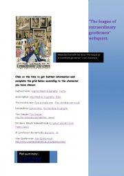 English Worksheet: The league of extraordianary gentlemen