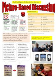 English Worksheet: Should mobile phones be allowed in the classroom?