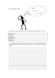 English Worksheet: Putting Things in Order (Adverbial Phrases of Sequence)