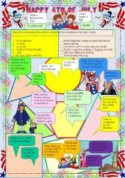 4th of July Jokes and Trivia--practice Passive and Question Words