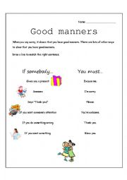 Printables Good Manners Worksheet english worksheets manners page 13 good manners