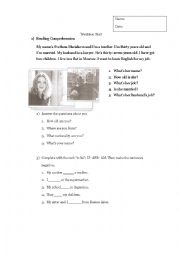 English Worksheet: Writtwn Test Adults