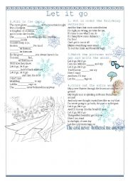 English Worksheet: Let it go