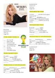 English Worksheet: Shakira �Dare�