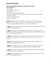 English Worksheet: Writing Topics for Grade 6