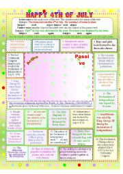Fourth of July--Active and Passive Voice