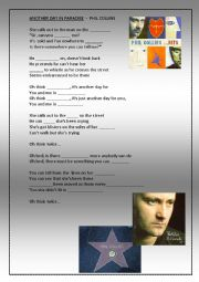 English Worksheet: Listening Phil Collins Another day in Paradise