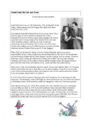 Reading exercise: Roald Dahl