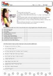 English Worksheet: Demi Lovato