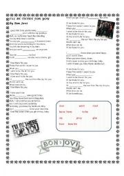 English Worksheet: I�ll be there for you. Bon Jovi song