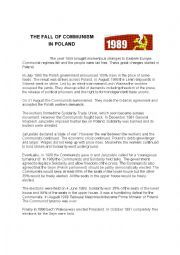 English Worksheet: THE FALL OF COMMUNISM IN POLAND