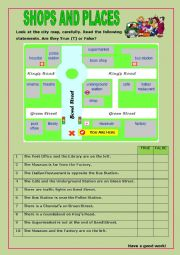 English Worksheet: Shops and Places:9