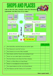 English Worksheet: Shops and Places:10