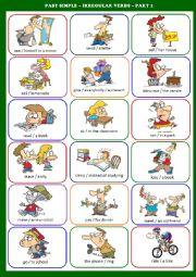 Irregular Verbs Past Simple Speaking Exercises Part 2 4