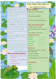 English Worksheet: The Frog and the Ox