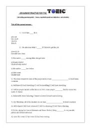 English Worksheet: TOEIC grammar practise
