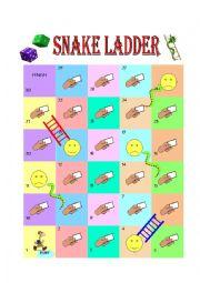 English Worksheet: Snake Ladder (Animal)