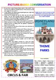 Picture-based conversation : topic 28 - theme park vs circus & fair