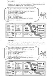 English Worksheets: Describing position