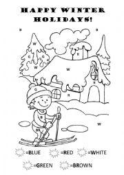 English Worksheet: Happy winter holidays!