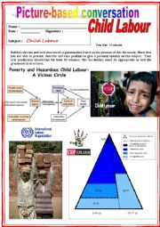 English worksheet: Picture based conversation.  Child Labour (Debating) 6/…