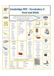 English Worksheet: Cambridge PET Vocabulary 2